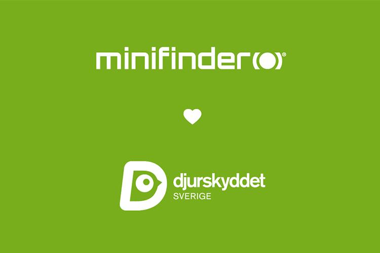 MiniFinder stödjer Djurskyddet Sverige!
