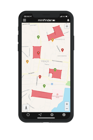MiniFinder go iphone10 geofence